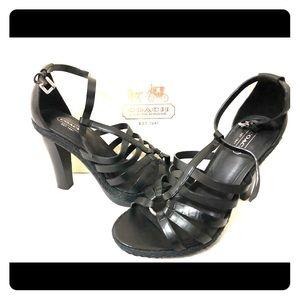 Coach Delanie high heel sandals 8 braided